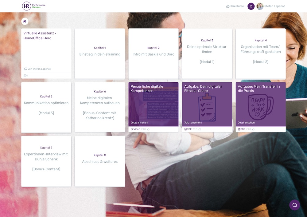 Online Campus HomeOfficeHero Virtuelle Assistenz